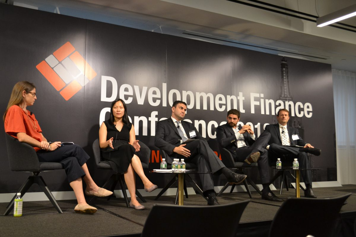 Ryan Simonetti speaks on a panel at the NYCEDC conference