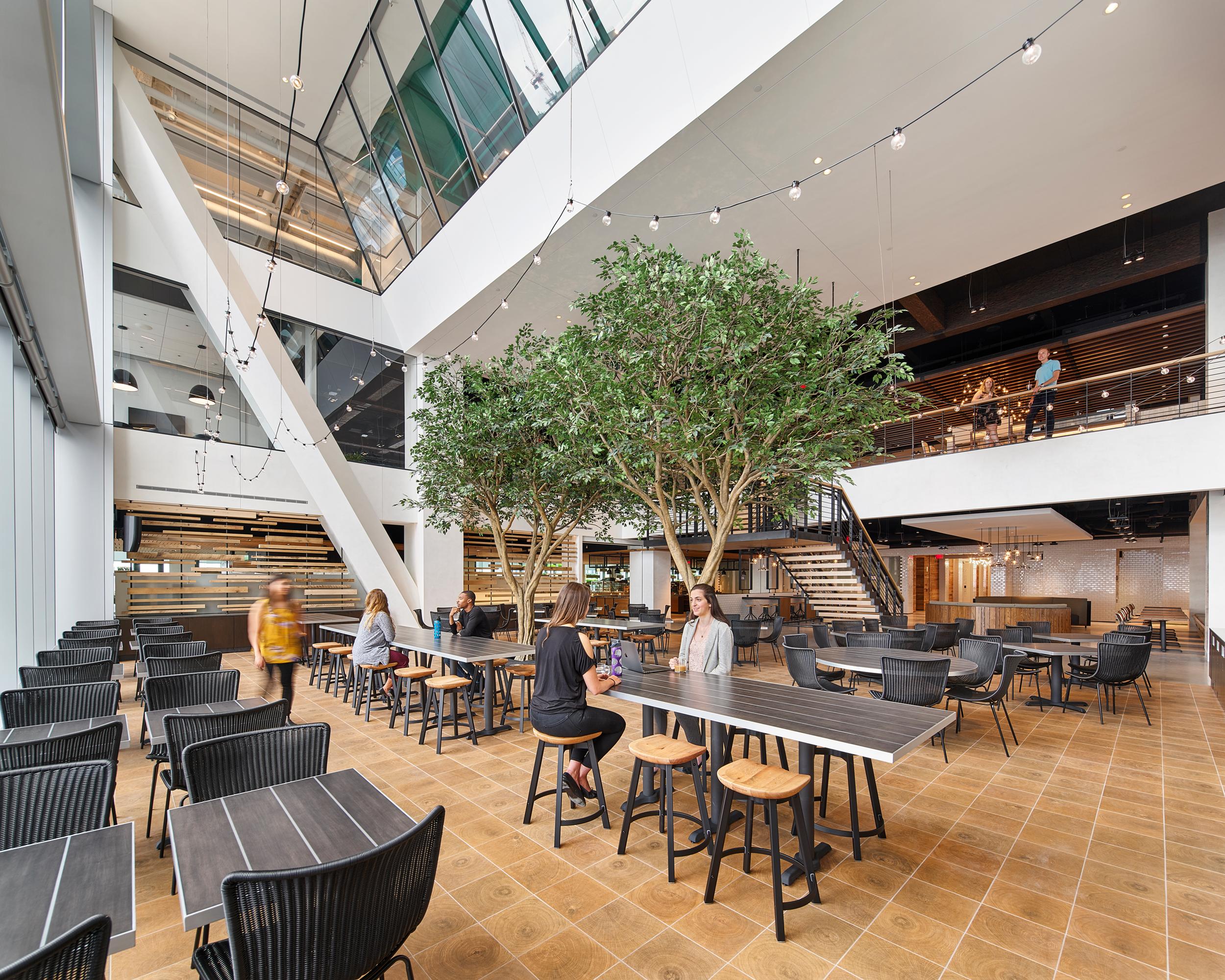 Lunchroom of the Comcast Technology Center in Philadelphia