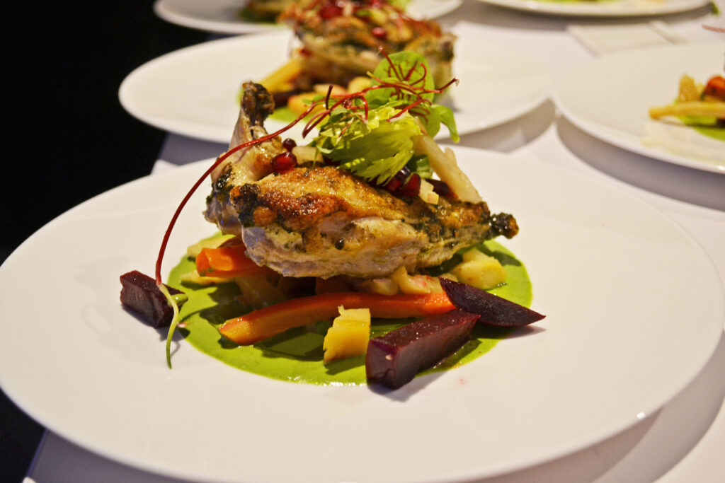 2016 Convene Fall Winter Plated Menu - Roasted Chicken with Seasonal Vegetables